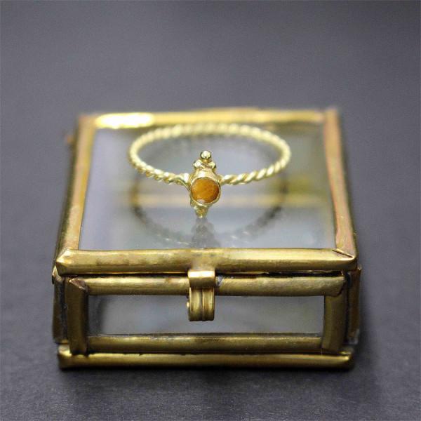 Bernsteinfarbene Billie - Ring gold